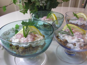 Matjessilltårta i glas