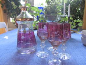 Fynd_Karaff och glas
