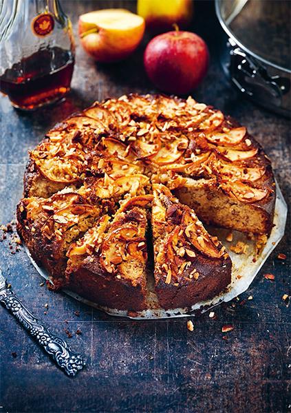 Äppelkaka med lönnsirap och ingefära. Foto: Eva Hildén Smith